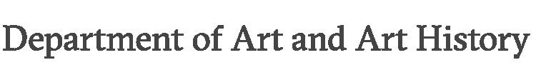 Art and Art History wordmark